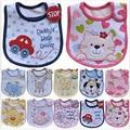 Hzirip Baberos de bebé lindo patrón de dibujos animados bebé impermeable Saliva Toalla de algodón ajuste 0-3 años de edad bebé eructo ropa de alimentación