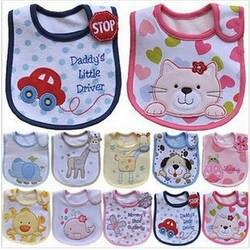 Hzirip милые детские нагрудники мультфильм шаблон малыш ребенок непромокаемый Слюна полотенце хлопок подходит от 0 до 3 лет младенческой
