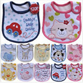 Hzirip Baby Bibs Cute Cartoon Pattern Toddler Baby Waterproof Saliva Towel Cotton Fit 0-3 Years Old Infant Burp Cloths Feeding