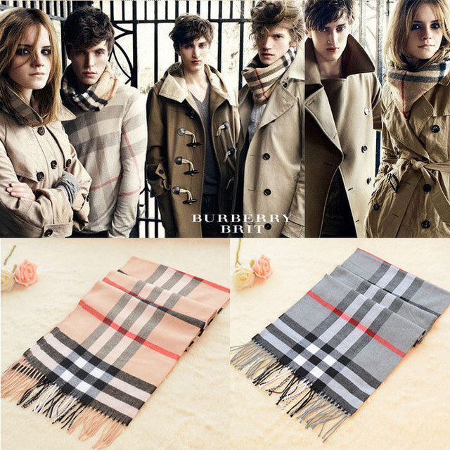 06746ab8561 2014 Winter High-end men s plaid scarf Brand Silk Long fringed scarves