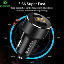 Cell-Phone-Charger-Adapter Car-Fast-Charger FLOVEME Cigarette-Lighter Universal Dual-Usb