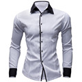 2016 New Fashion Long Sleeve Brand Clothing Man Slim Fit Dress Shirt Spring Blouse 7 Colour Male Tops Camisas