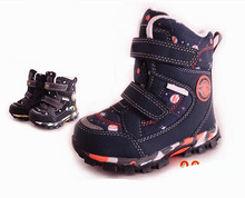 NEW 1pair waterproof Snow Boots Winter Children's Shoes warm boots ,-30 degree, inner wool Fashion Boy/Girl Boots
