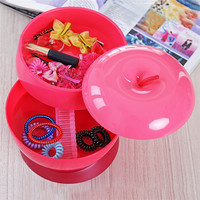 Creative Food Storage Box Home Plastic Apple Shaped Three Layers Rotatable Melon Seeds Candy Box Fashion