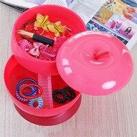 Creative Food Storage Box Home Plastic Apple Shaped Three Layers Rotatable Melon Seeds Candy Box Fashion Candy Box