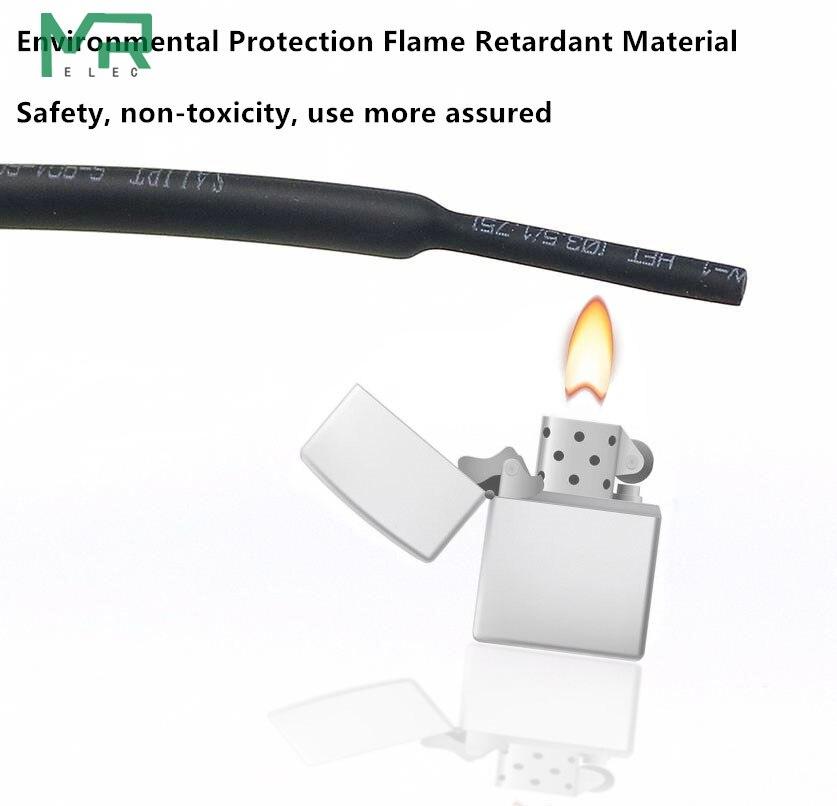 5 м/лот 2:1 черный 0,8 мм~ 10 мм полиолефин кабельные рукава электронный компонент DIY разъем ремонт термоусадочная трубка