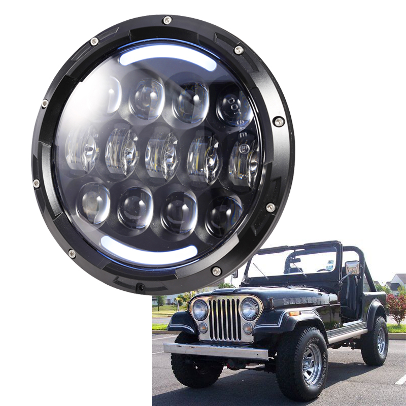 1 pair 7 inch 105W LED Headlights Hi/Low Beam Headlight with Bulb DRL for Jeep Wrangler J LJ JK CJ-7 CJ-8 Harley DHL free 7inch 75w round led headlight 7500lm hi low beam head light with bulb drl for wrangler tj lj jk cj 7 cj 8 scrambler harley