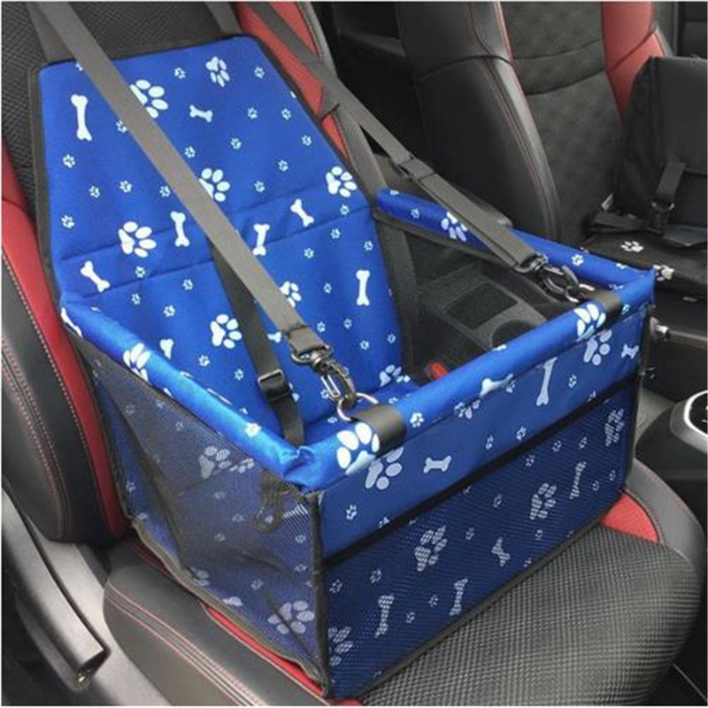Waterproof Single Seat Pet Carrier Dog Cat Car Rear Back Seat Cover Travel Folding Blanket Cushion Mat For Small Medium Dog #2