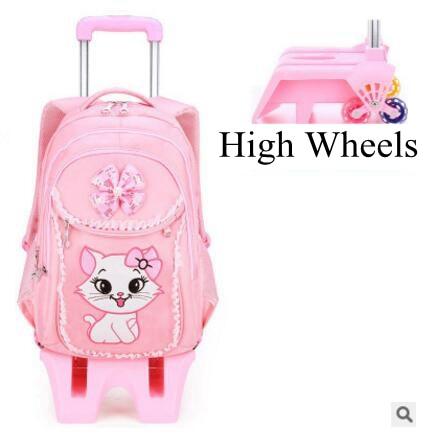kids School backpack On wheels Children School Rolling backpacks bag for kids wheeled backpack bag for Girls school Trolley bags