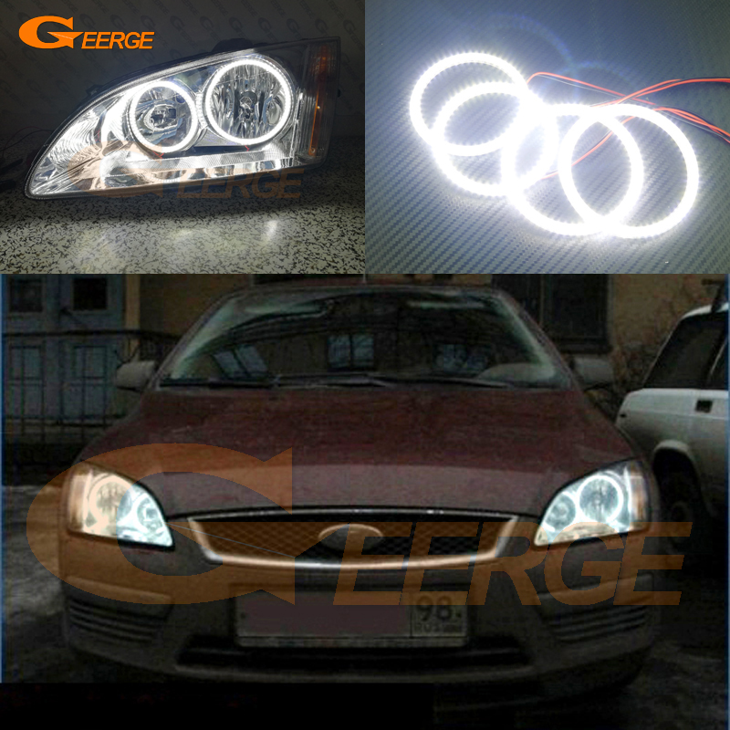 For Ford Focus II Mk2 2004 2005 2006 2007 2008 Europe Excellent Ultra bright illumination smd led Angel Eyes Halo Ring kit new for ford focus ii da