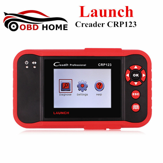 Cheap Launch Creader CRP123 Code Reader Launch CRP 123 For ABS SRS Transmission and Engine OBD2 OBDII Diagnostic Tool Update Online