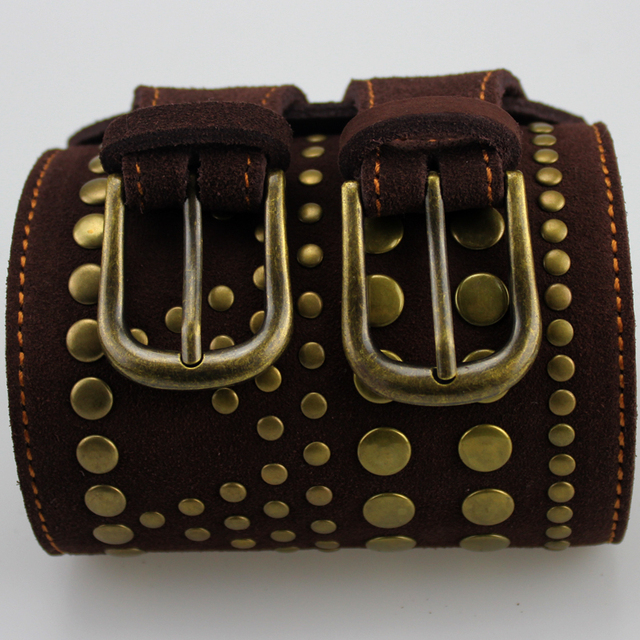 2017 Summer Spring New Vintage Women Belt Double Buckles Genuine Faux Leather Rivet Cowskin Belts cinturones Apparel Accessories