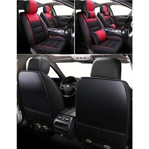 Image 3 - (Vorne + Hinten) leder & Flachs auto sitzbezüge für Chevrolet Onix 2018 2013 durable komfortable sitzbezüge für Onix 2016 captiva,