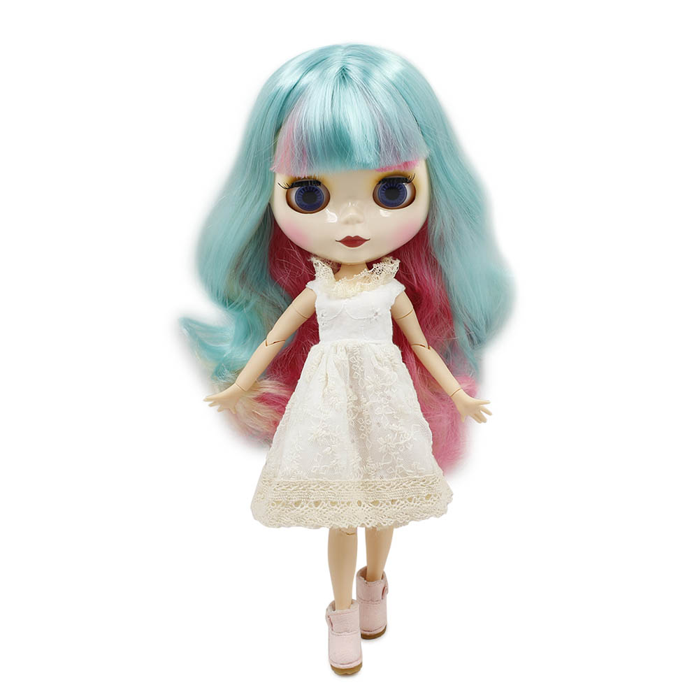 Nude Doll BL1050 JOINT body With Bangs/fringes pink hair
