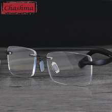 Chashma Brand Designer Rimless Optical Reading Glasses Women and Men Fashion for Read