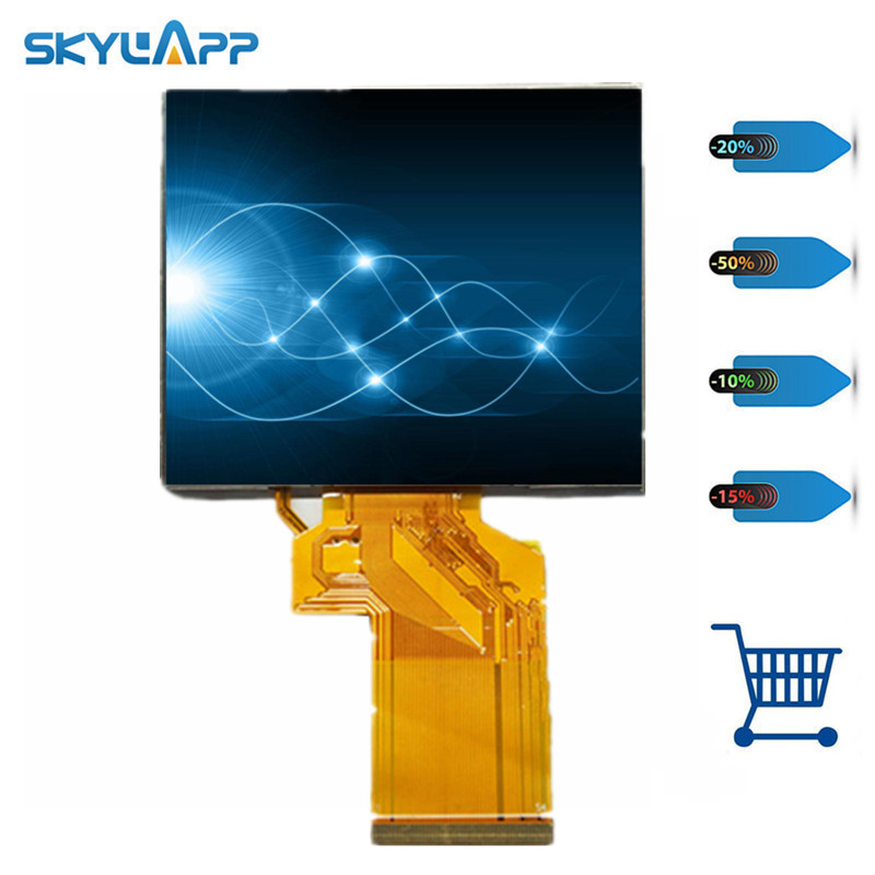 skylarpu 3.5 inch HD TFT for LQ035NC111 LQ035NC121 for Satlink WS-6906 WS 6906 Satellite Finder LCD Screen panel (without touch)