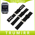 22mm Silicone Rubber Watch Band for Samsung Gear 2 R380 R381 R382 Moto 360 2 46mm Big Stainless Steel Clasp Strap Wrist Bracelet