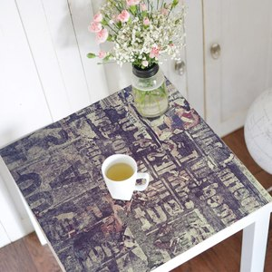 Image 2 - Gorący wodoodporny Pvc plac naklejka na stół obrus pulpitu folii ochronnej biurko naklejki ciemny fiolet