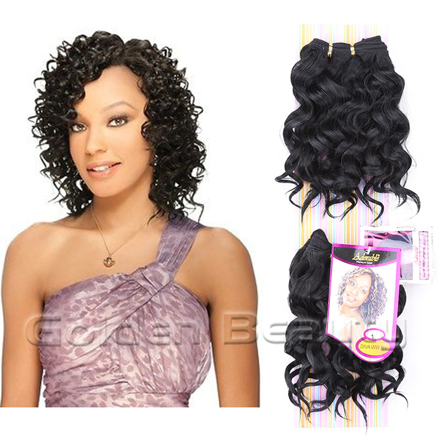 8inch Deep Wave Weave Hair Extensions Synthetic Sew In On