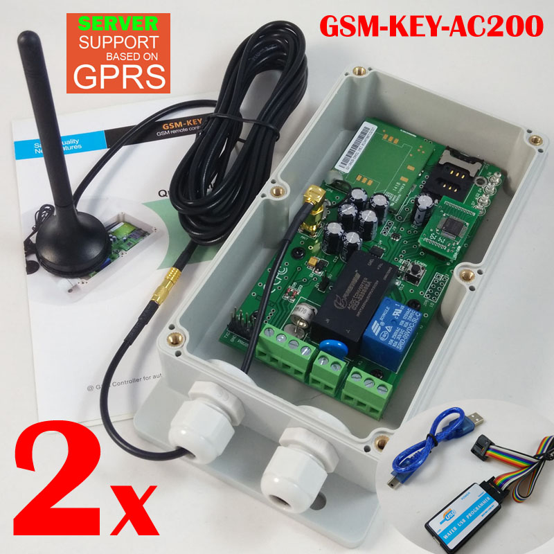 2015 New version GPRS version QUAD band worldwide design Sliding gate remote controller GSM-KEY-AC200 smallest sim800l quad band network mini gprs gsm breakout module