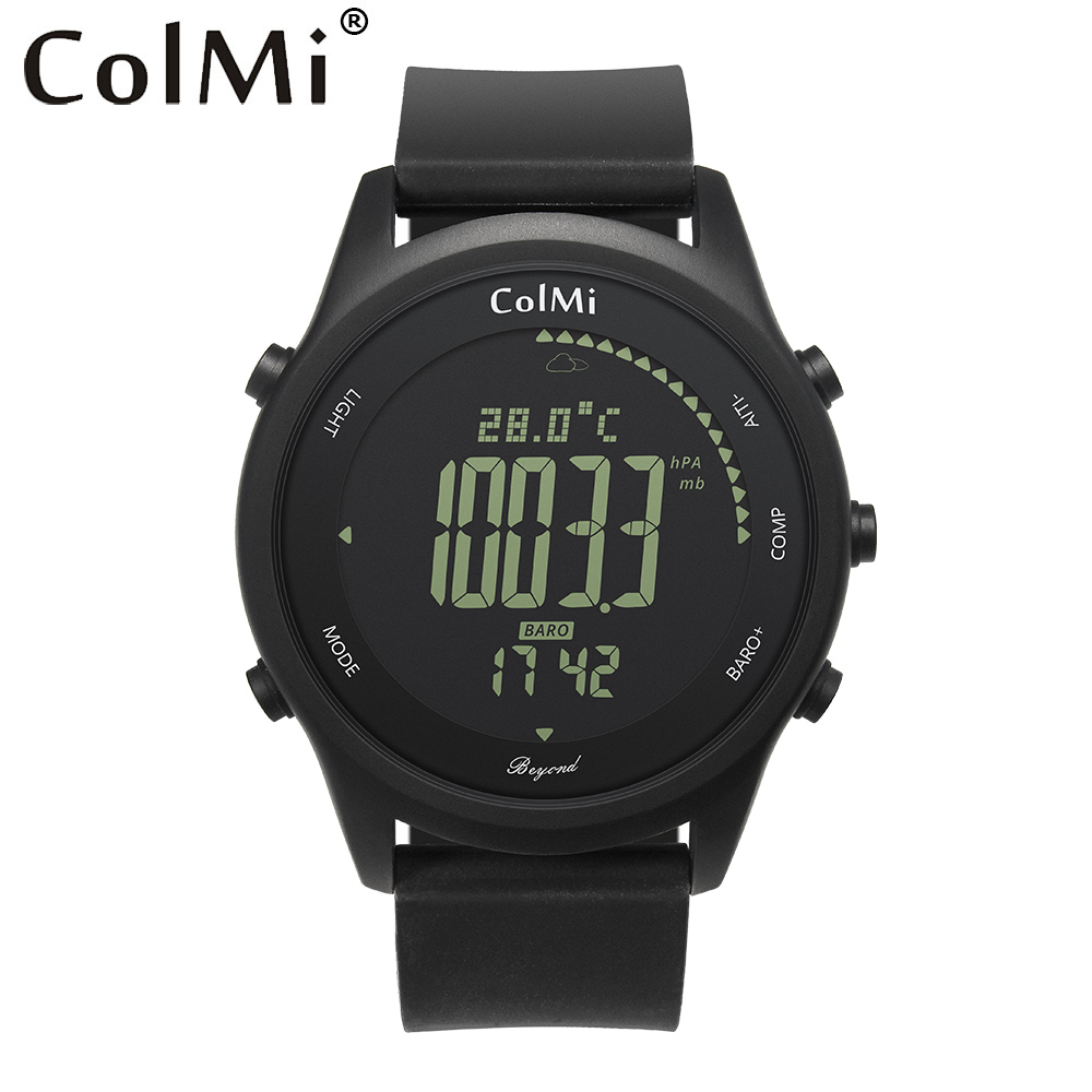 ColMi Smart Watch Beyond IP68 5 ATM Waterproof Pressure Temperature Altitude Compass Man Outdoor Smartwatch