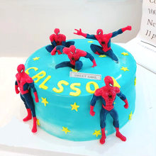HOT Super Hero Spider Man Party cupcake toppers picks Birthday Spiderman Party Decoration Kids Supplies Cake decorat Kid Toys(China)