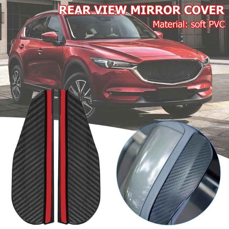 2pcs Universal Car Rearview Mirror Rain Eyebrow Car Side Rear View Mirror Side Rain Shield Snow Guard Sun Visor Shade Protector