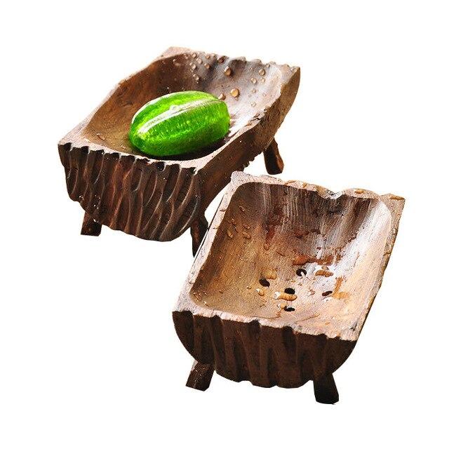 2016 Новые Природные Лесные Мыльница Мыльница Держатель Стеллаж Для Хранения Плиты Box Контейнер для Ванной Душ Ванной Продукции