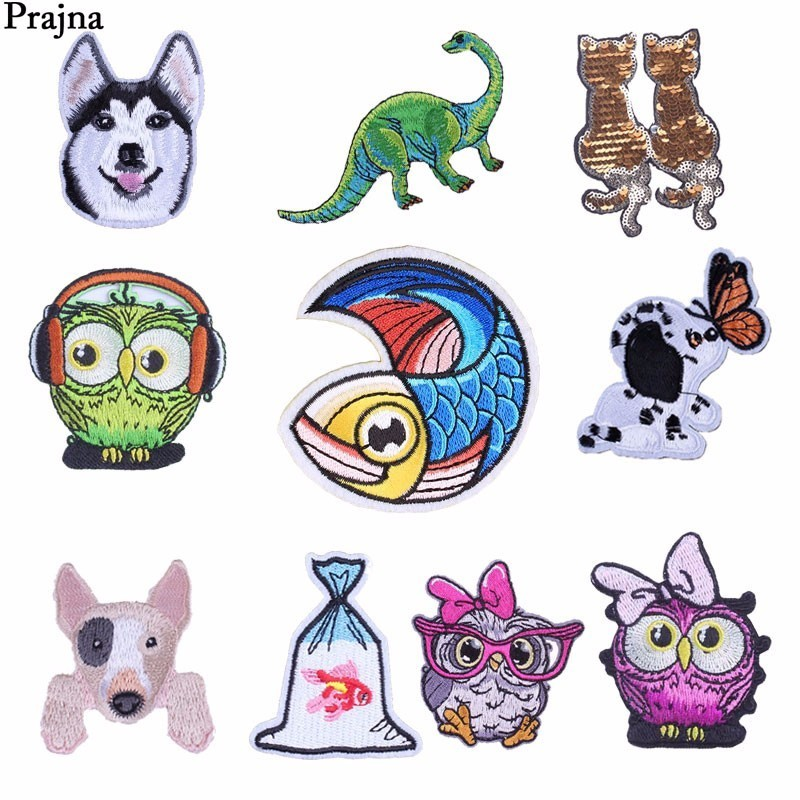 Arts,crafts & Sewing Apparel Sewing & Fabric Prajna Custom Cute Lucky Cat Patch Decals Iron On Embroidered Patches For Clothes Backpack Cheap Bird Owl Unicorn Patch Applique Without Return