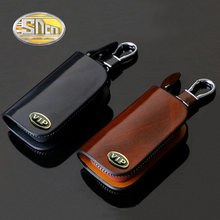 SNCN Genuine Leather Car Key Chain Wallets Cover Case For Audi BMW Ford Honda Hyundai Kia Mazda Nissan Jeep Keychain Key Bags(China)