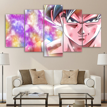 ArtSailing HD print 5 piece canvas dragon ball Goku pictures wall art for bedroom Poster with frame UP-2175C