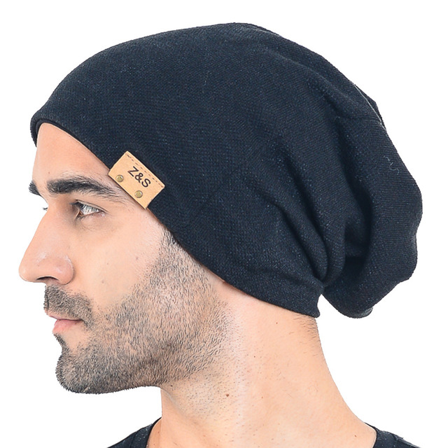 5b3f4a60dd014 HISSHE Summer Winter Oversized Slouch Beanie Cap For Mens Casual Solid Knit  Long Slouchy Hat