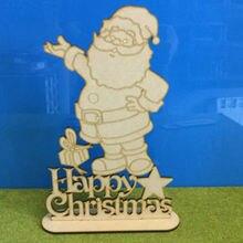 Лазерные порезы-Счастливое Рождество с стоящим Санта