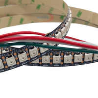 0.5 m 72 leds 144 LEDs/M WS2812B Chip Bianco/Nero PCB WS2811 Digitale IC 5050 RGB LED luce di striscia 5 V NP