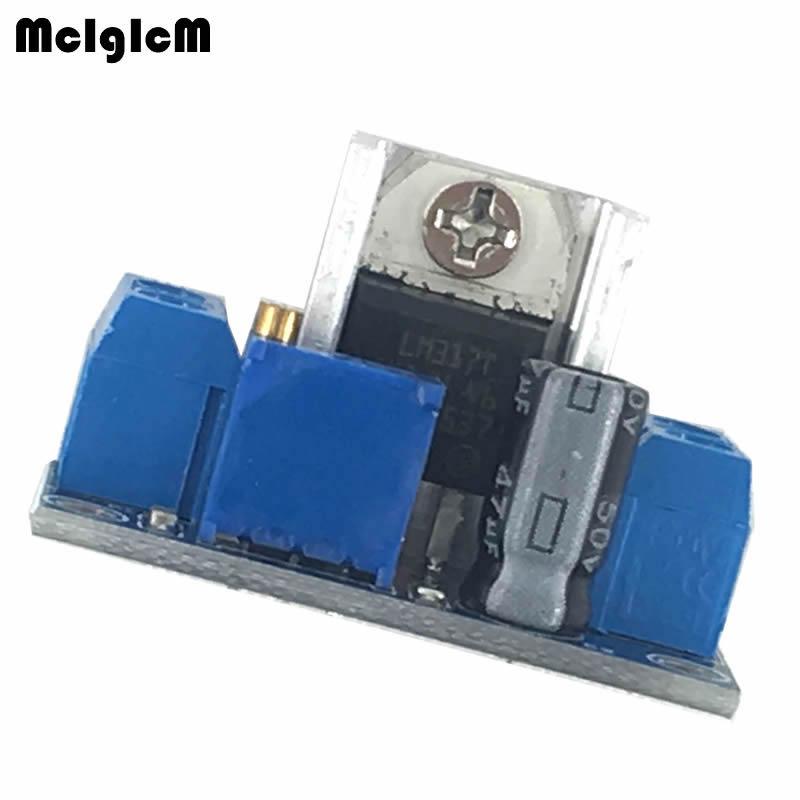 MCIGICM 100pcs LM317 DC DC Converters Circuit Boards Module Adjustable Linear Regulator