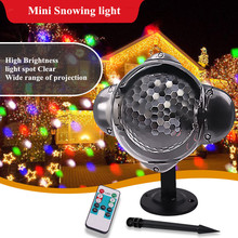 Projection Lamp Colored Flowers Point Snowing Light Outdoor Waterproof Patio Mini Baby Nursery Light for Birthday Gift Christmas