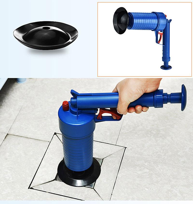 Air Power Afvoer Blaster Pistool Hoge Druk Krachtige Handmatige Plunger Pijp Klomp Baggerschip Remover Toiletten Sink Bad Keuken Schoner