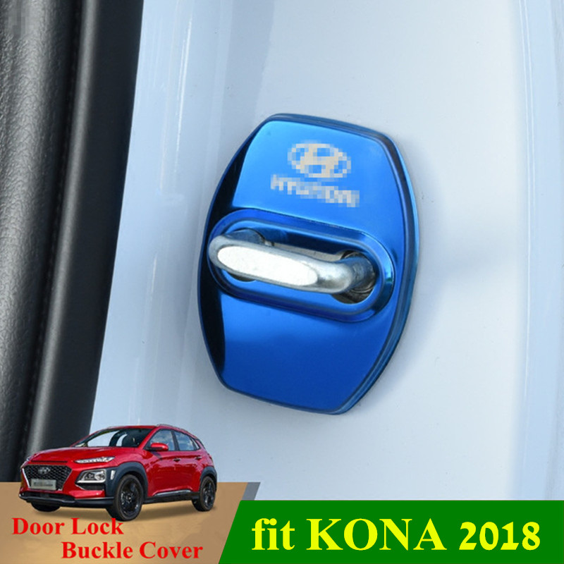 KONA/KAUAI 2018 Car Door Lock Key Cover Latch Door Lock Keys Protective Buckle Cover For HYUNDAI KONA 2017-2019