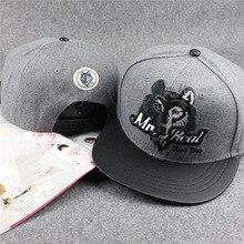 Fashion Grey & Black 3D Wolf Head good man Hip Hop Baseball Caps Wolves Snapback Caps Sport Bone dad Hats Golf Gorras