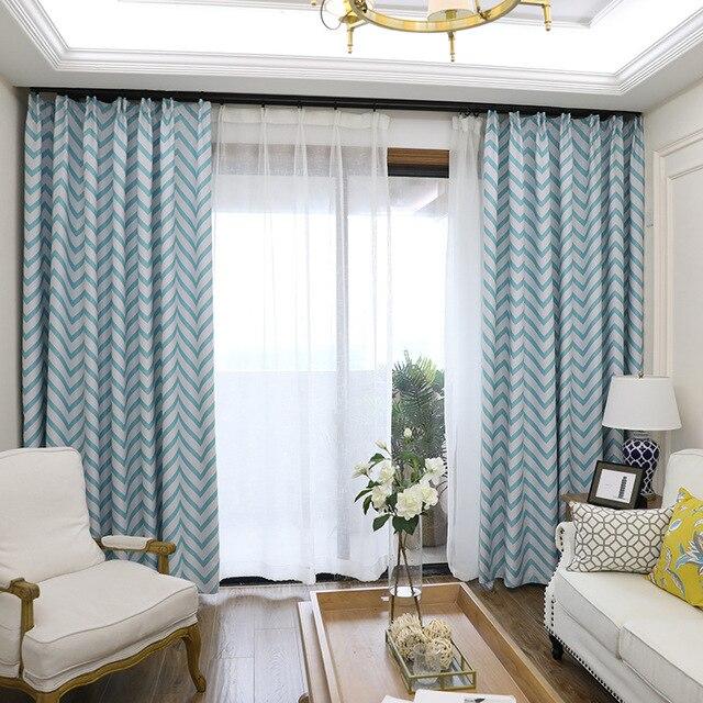 € 8.07 |Moderno estilo americano de Alta Luz de la sombra de cortinas para  salón comedor cuartos de empleadas balcón aterrizaje Multicolor sombreado  ...