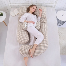 Pregnant Women Soft Pillow Waist Side Abdominal Pillow Multi-functional U-Shape Maternity Supplies Sleeping Cushions Big Pillows
