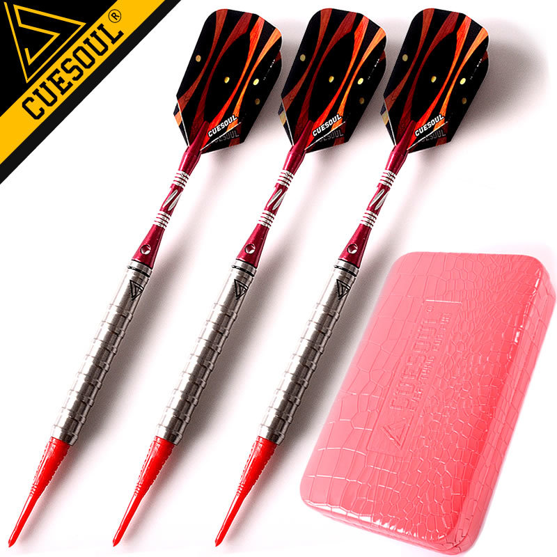 CUESOUL 18g 15cm 90% Tungsten Darts Soft Tip Darts Electronic Dart With Professional Packaging wmg08580 professional 18 soft tip electronic voice dartboard with 6 dart black multicolor