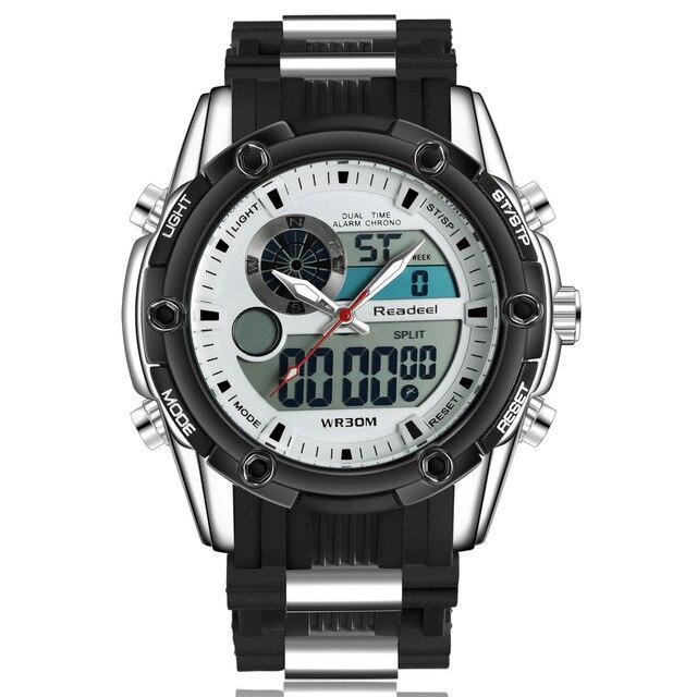 Top Sport Men Quartz Watch Hour Clock Men Analog Digital LED Men Sport Military Wrist Watch relogio masculino reloj hombre 2015