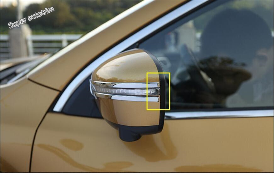 Lapetus Chrome Rearview Mirror Strip Cover Trim Streamer Molding Fit For <font><b>Nissan</b></font> <font><b>Qashqai</b></font> J11 <font><b>2014</b></font> - 2020 ABS <font><b>Accessories</b></font> Exterior image