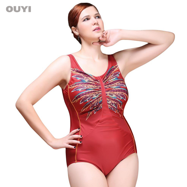 ac000004b8c New Sexy One Piece Swimsuit 2018 Vintage Plus Size Swimwear Women Look Slim  Print Beach Bodysuit Scoop Back Halter Bathing Suit
