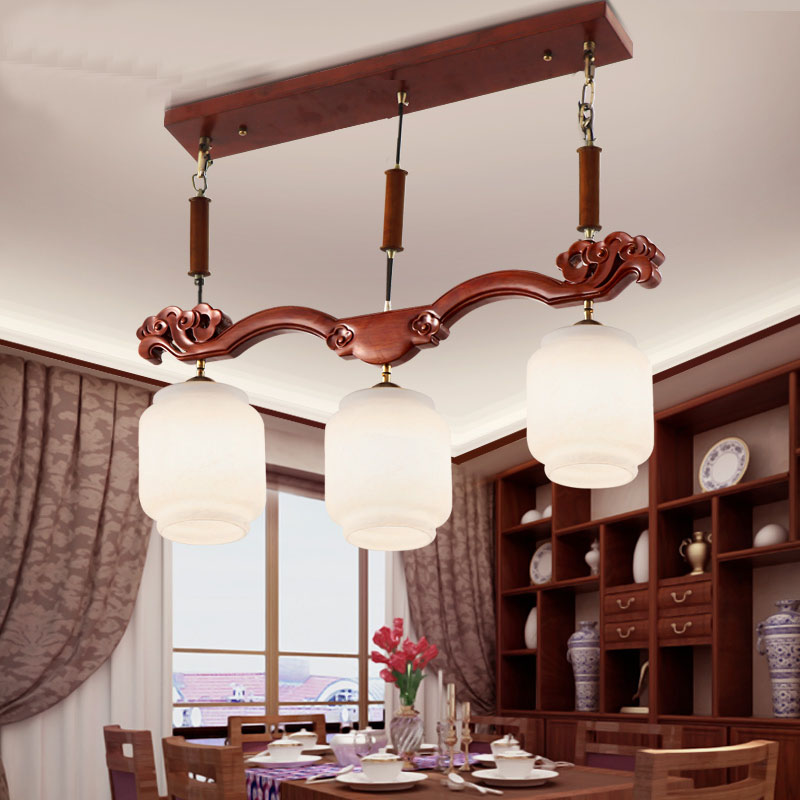 Chinese pendant light living room dining room lamps solid wood art led antique three sheepskin hall pendant lamp wl5021439 20 beige free shipping crystals string pendant light elegant living room pendant lamps fabric dining room pendant lamp