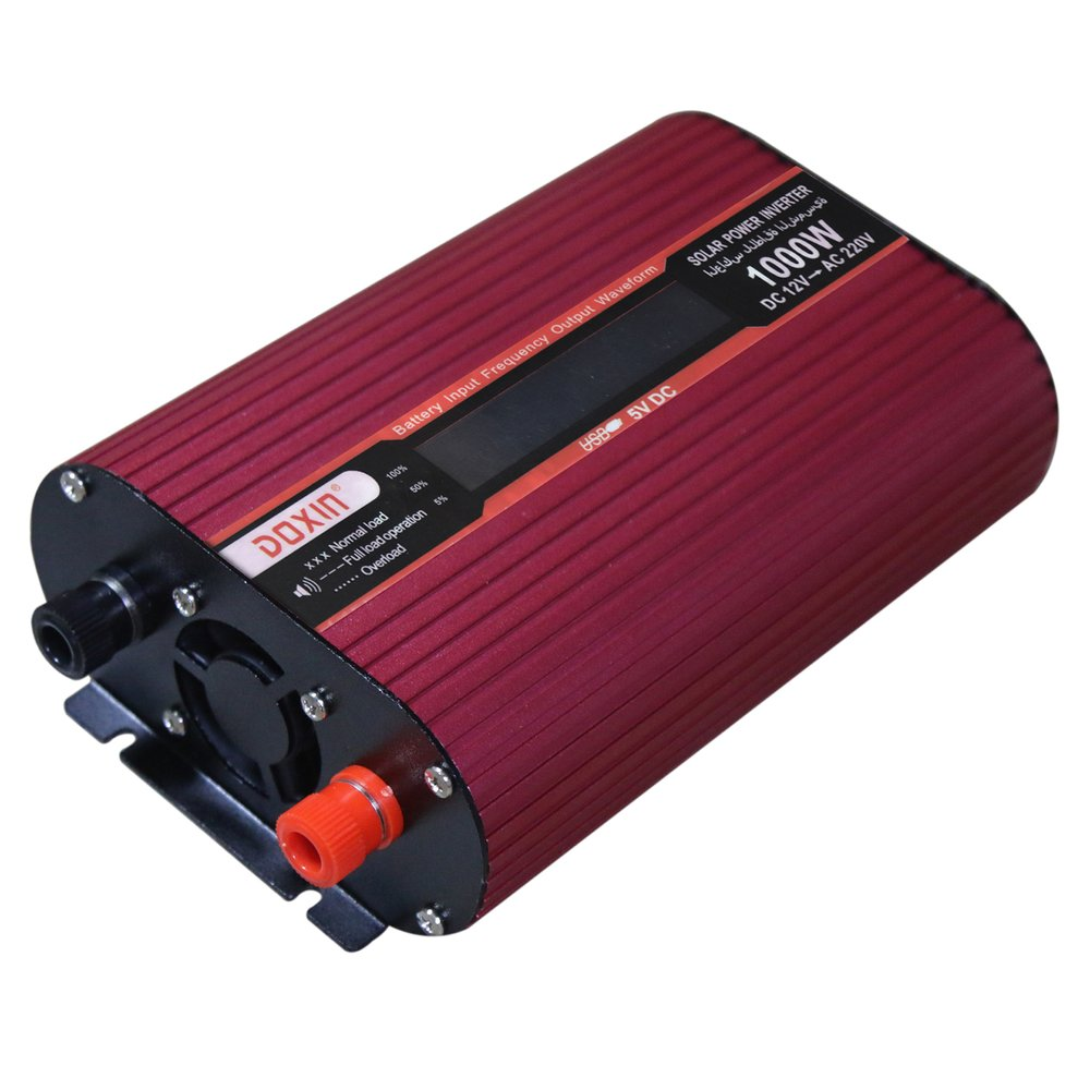 2018 1000W Professional Solar Power Inverter USB DC 12V to AC 220V LCD Display Fan Cooling Car Universal Converter professional 3000w power inverter dc 12v to ac 110v 220v with led indicator light fan cooling universal socket car converter