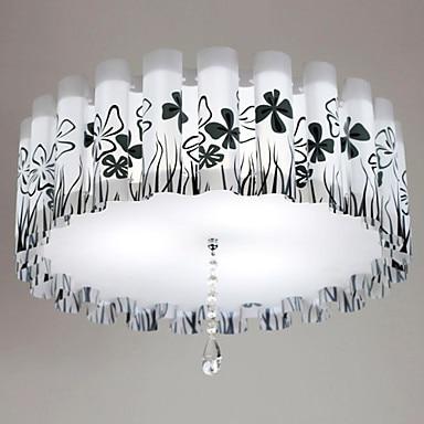 Livraison gratuite montage encastré, 3 lumières, E27 11 W Country Chic métal PVC peinture taille:: 52*52*18 CM