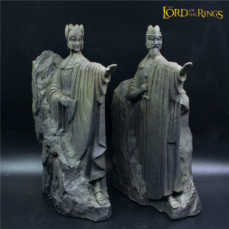 25cm the lord of the rings hobbit third gate of gondor argonath statue bookends over large size - Argonath bookends ...