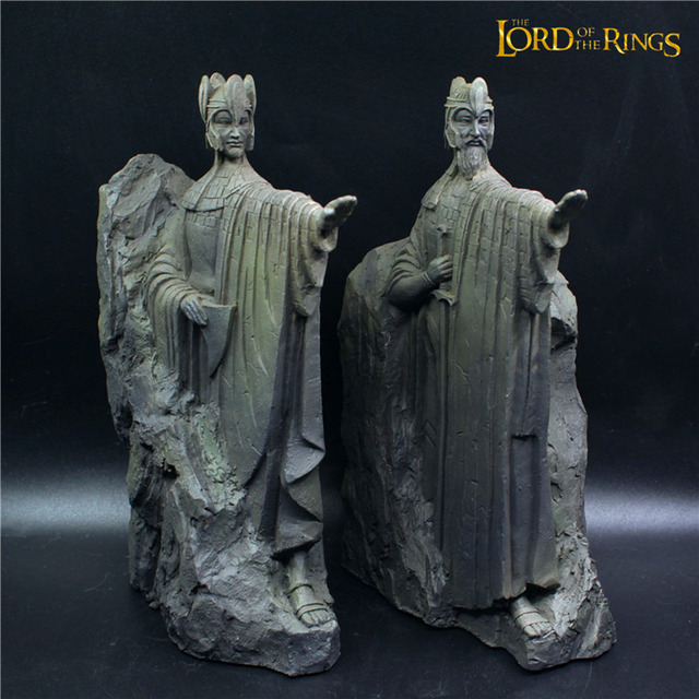 25CM The Lord Of The Rings Hobbit Third Gate Of Gondor Argonath Statue  Bookends (OVER